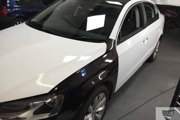Gallery image shows bonnet wrap and side vehicle by B.N.Window Tinting & Car Wrapping